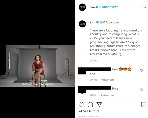 Example IBM IG Account
