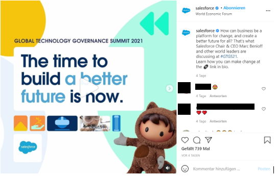 Example Salesforce IG Account